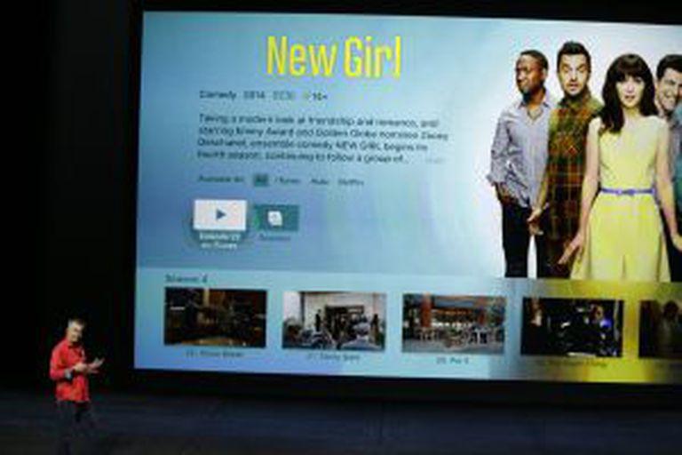 Eddy Cue apresenta a nova Apple TV.