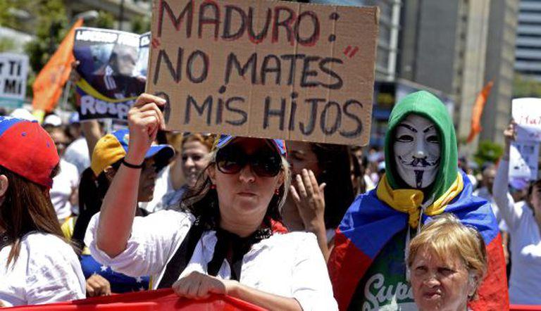 Manifestação em Caracas, no dia 8 de março.