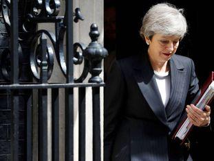 A primeira-ministra do Reino Unido, Theresa May, em uma imagem feita nesta quarta-feira em Downing Street