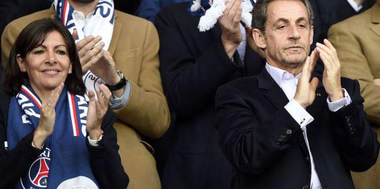 Sarkozy em um jogo do PSG no último sábado.