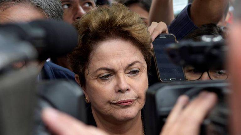 Dilma Rousseff, em Belo Horizonte, neste domingo.
