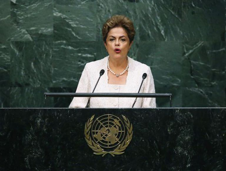 Dilma Rousseff discursa na ONU, em Nova York.