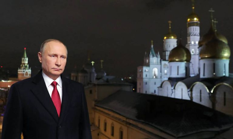 Presidente russo durante pronunciamento de Ano Novo.