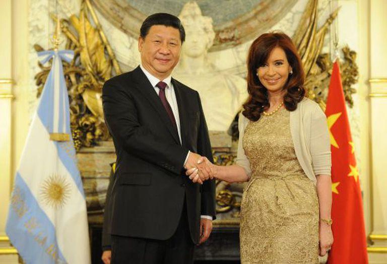A presidenta argentina se reúne com Xi Jinping.