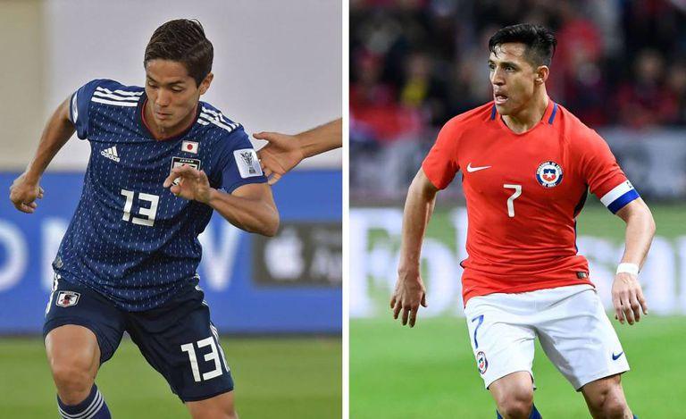 Muto e Alexis Sánchez são as esperanças japonesas e chilenas, respectivamente.