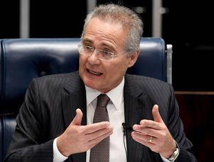 Renan Calheiros, no dia 1 de dezembro, no Senado.