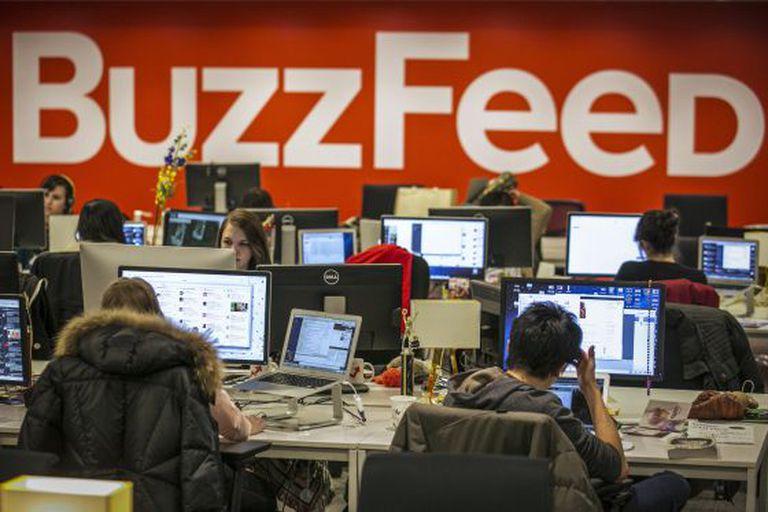 Redação do BuzzFeed em Nova York.
