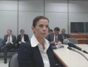 Claudia Cruz em depoimento ao juiz Sérgio Moro, em novembro de 2016.