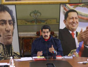 O presidente da Venezuela, Nicolás Maduro, no último dia 9 de janeiro.