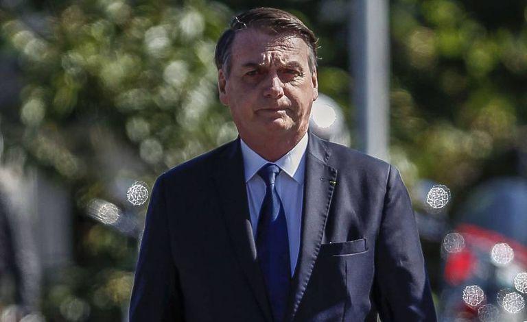 Presidente Jair Bolsonaro durante cerimônia no dia 18 de abril.
