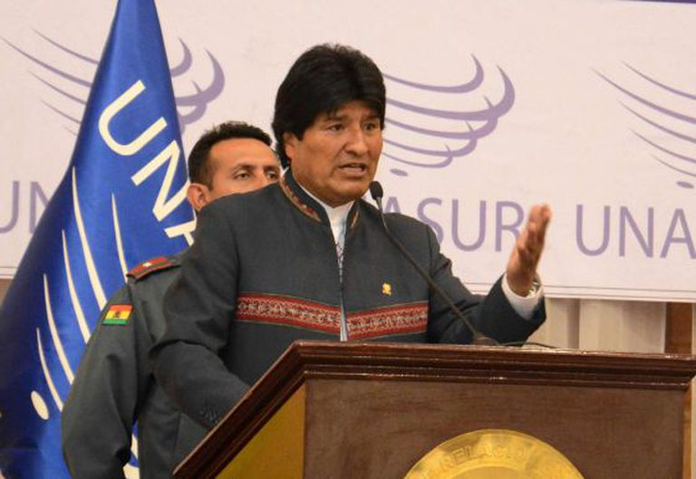 O presidente Morales, em Cochabamba, no último dia 13.