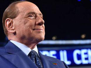 Silvio Berlusconi, em um programa de televisão na Itália.