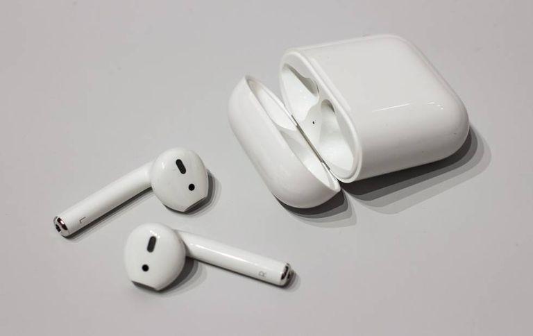 Fones de ouvido sem fio da Apple.