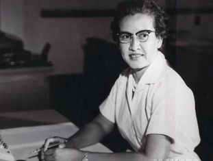 Katherine Johnson, na NASA, em 1966