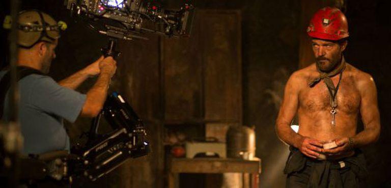 Antonio Banderas na filmagem de 'Los 33'.