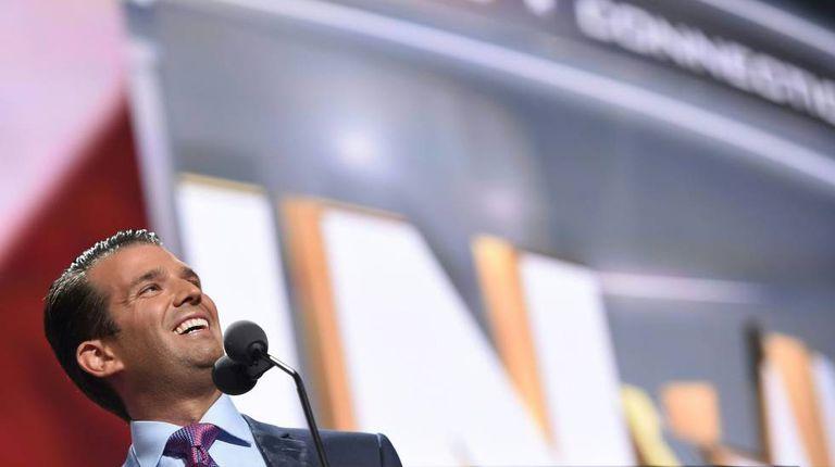 Donald Trump Jr. durante convenção republicana