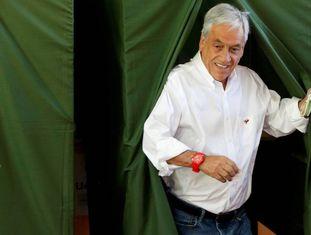 O ex-presidente do Chile e candidato, Sebastián Piñera