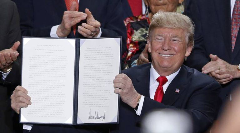 Donald Trump na segunda-feira em Utah.
