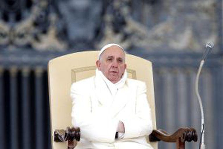 O papa Francisco durante uma audiência na Cidade do Vaticano.
