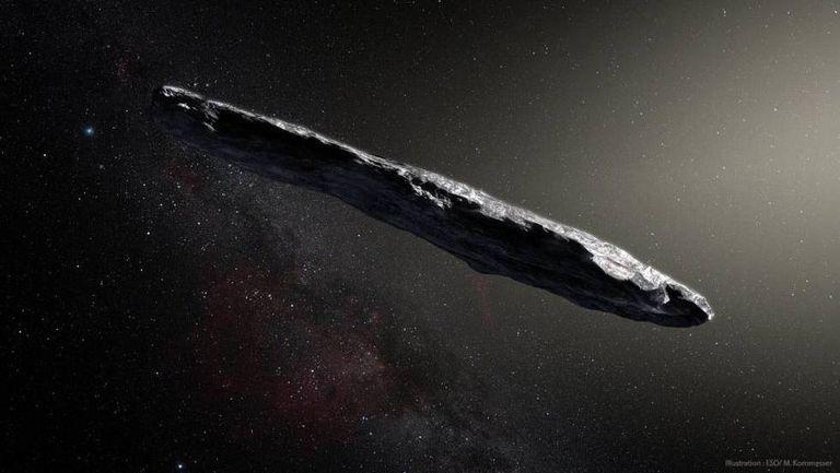Recriação de 'Oumuamua'