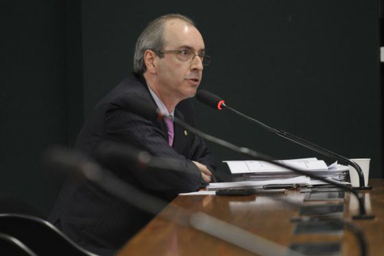 Eduardo Cunha, na Comissão de Constituição e Justiça da Câmara.