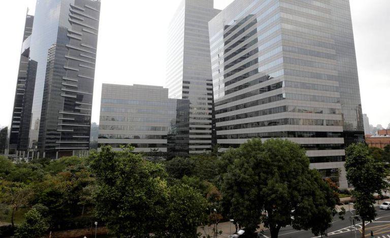 Complexo empresarial em São Paulo.