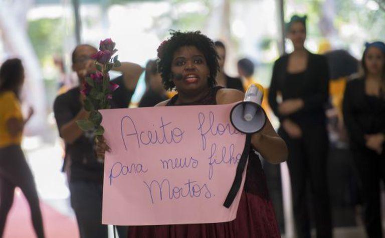 Protesto contra o racismo em Brasília
