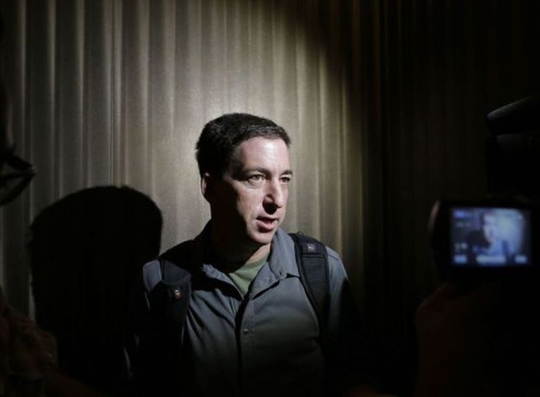 Greenwald, em junho de 2013, enquanto atendia os jornalistas.