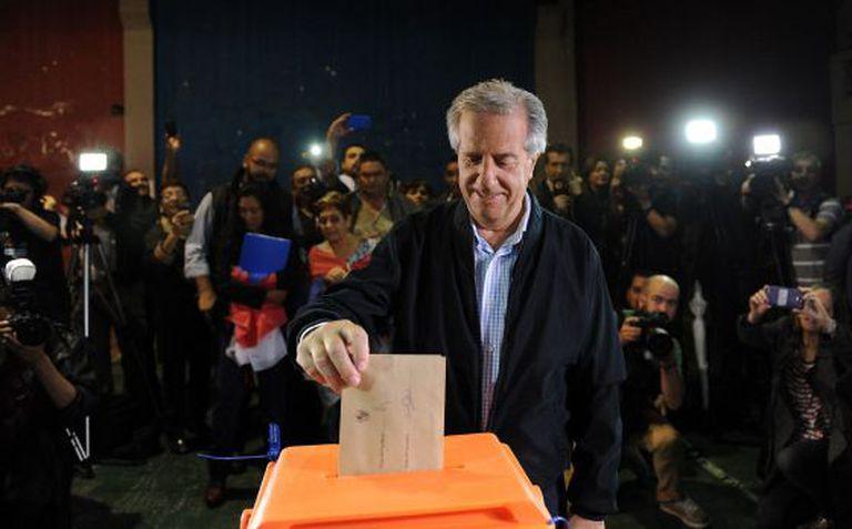 O candidato da Frente Ampla, Tabaré Vázquez.