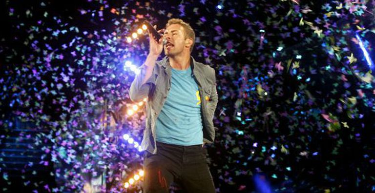 Chris Martin, da banda Coldplay.