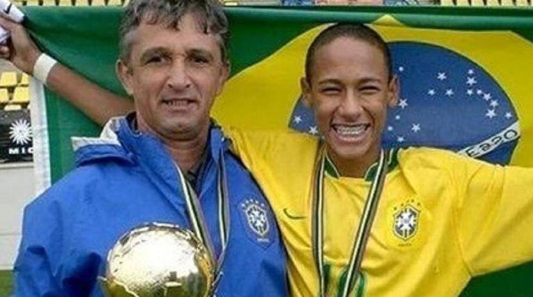 Lucho Nizzo e Neymar, em 2009.