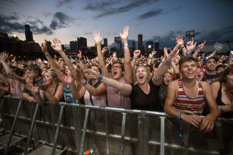 Público do Lollapalooza em Chicago.