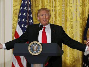 Donald Trump, na conferência de imprensa.