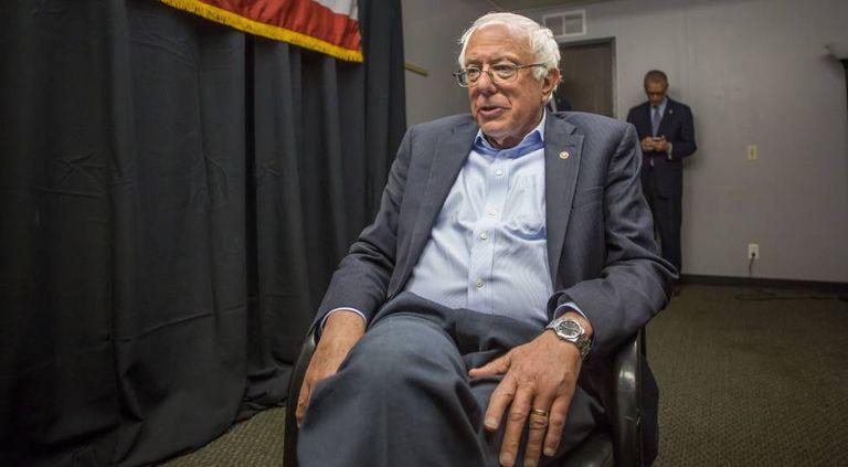 O candidato à nomeação democrata Bernie Sanders, durante entrevista ao EL PAÍS.