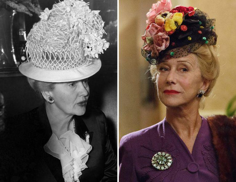 Helen Mirren (como Hedda Hopper) e Bryan Cranston (como Dalton Trumbo) em Trumbo.