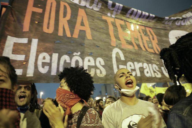 Protesto no dia 2 de setembro, em São Paulo.