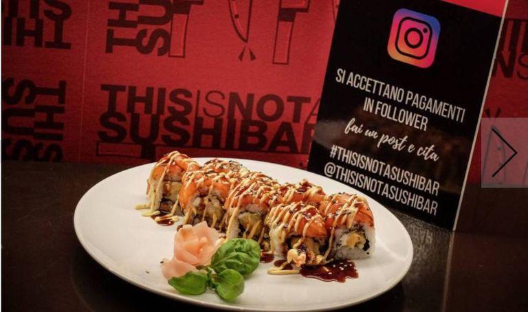 Rede This Is Not A Sushi Bar, na Itália, oferece pratos grátis de acordo com o número de seguidores que você tiver em sua conta do Instagram