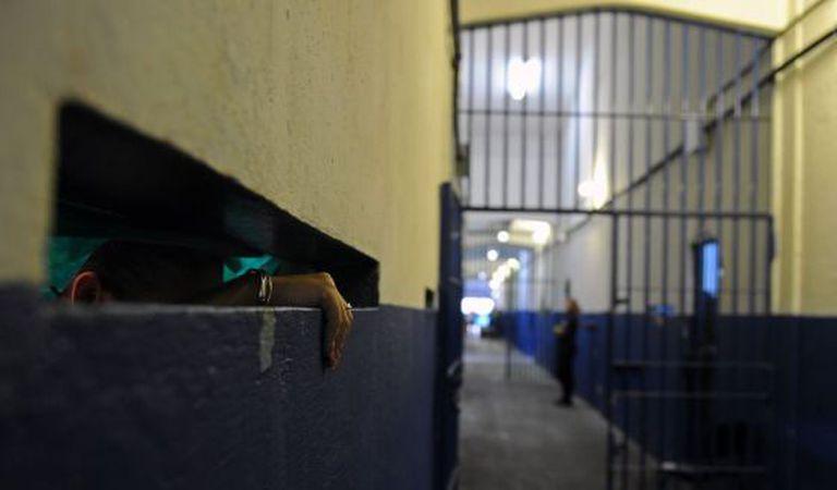 Uma detenta em uma prisão do Rio, em 2011.