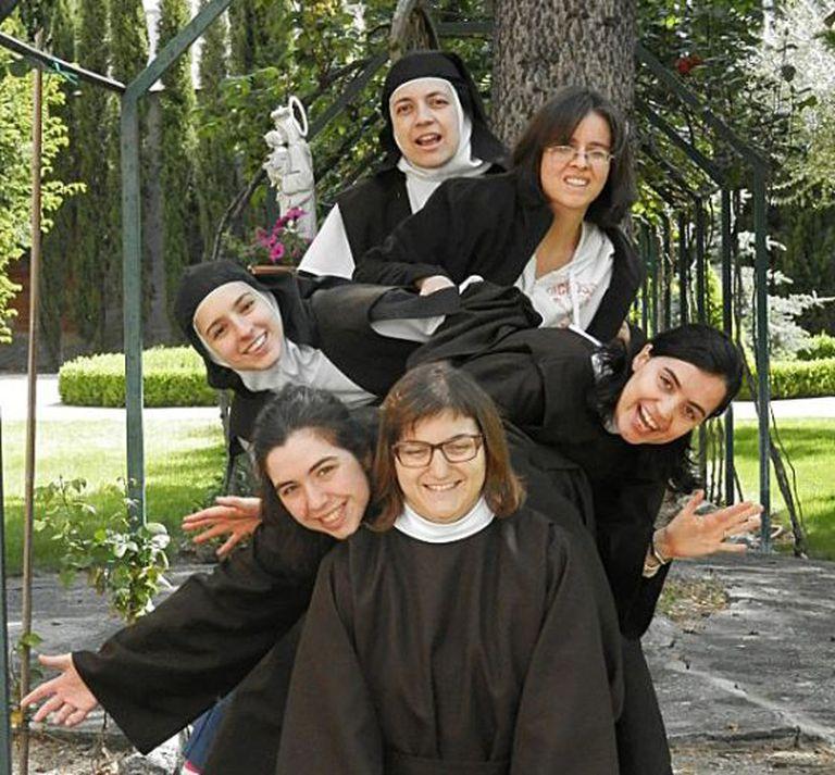 Uma das fotos que as carmelitas de Valladolid, freiras de clausura, mostram em seu site.