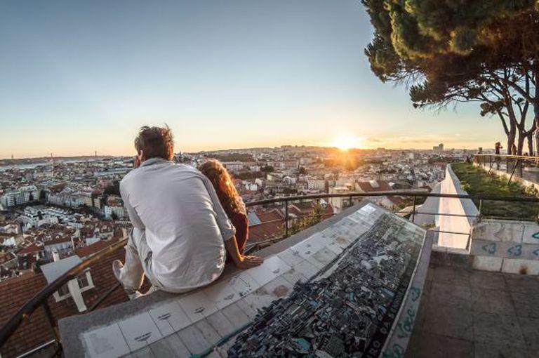 Lisboa vista do mirante de Nossa Senhora do Monte.