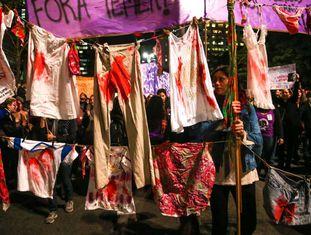 Ato contra a cultura do estupro em São Paulo no ano passado.