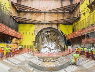 Obra da linha-5 do metrô de São Paulo, umas das obras onde as empreiteiras investigadas na Lava Jato atuam.