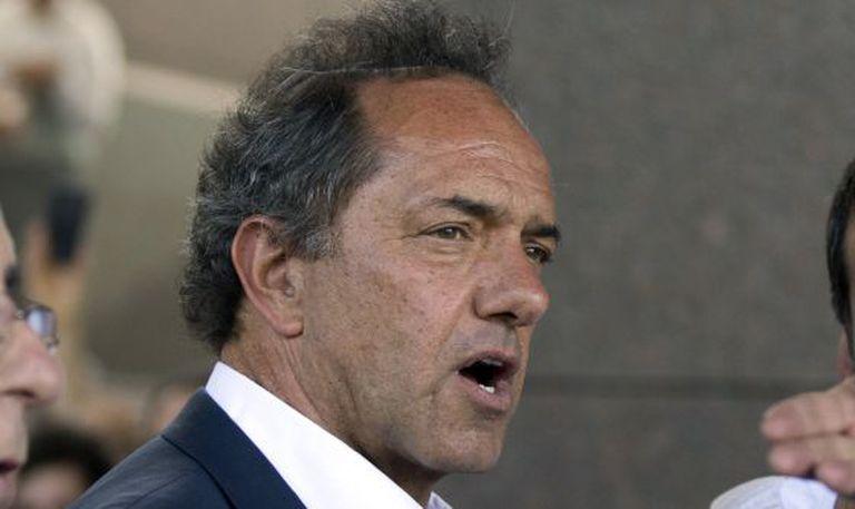 O candidato Daniel Scioli.