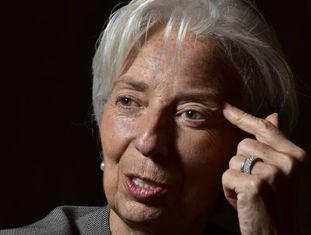 A diretora-gerente do FMI, Christine Lagarde, em Buenos Aires durante a entrevista.