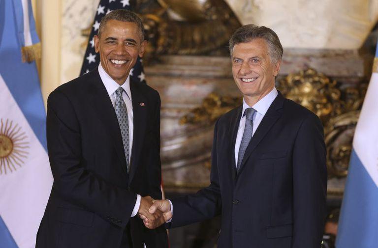 Obama e Mauricio Macri se encontraram nesta quarta-feira, na Casa Rosada, em Buenos Aires.