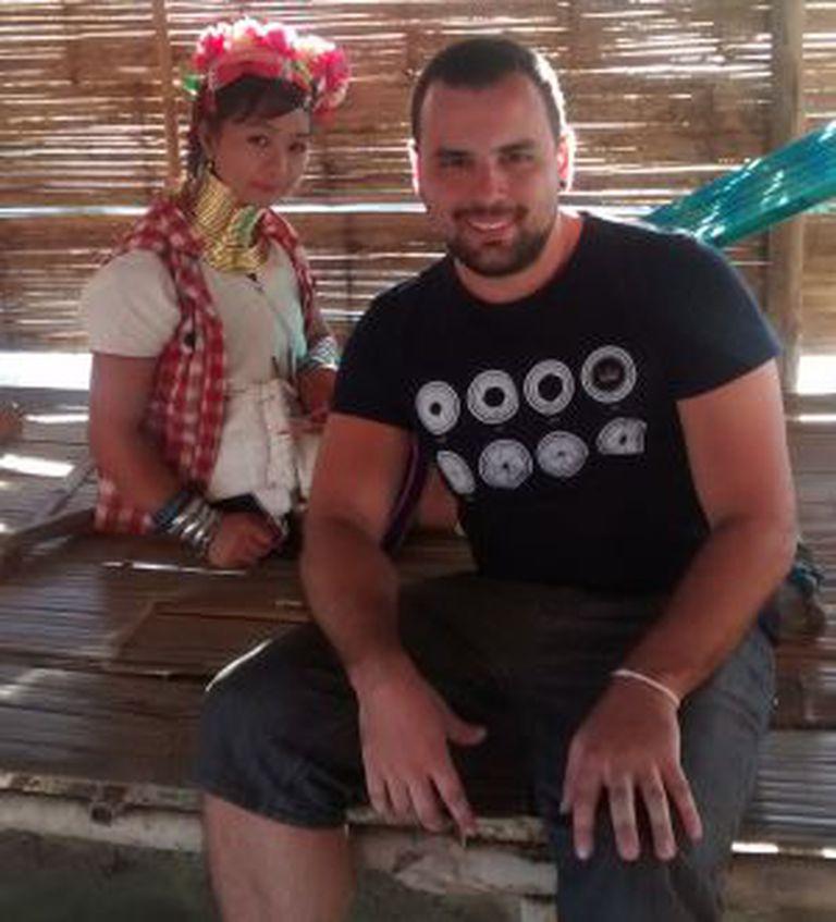 Mateus Martins em viagem pela Tailândia.