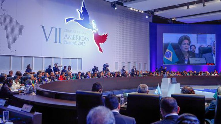 Dilma discursa na Cúpula das Américas, organizada pela OEA.