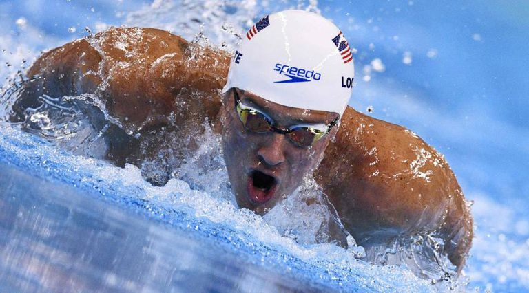 Lochte durante uma prova nos Jogos do Rio.