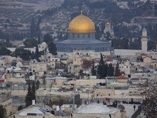 Vista da cidade velha de Jerusalém.
