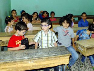 Crianças na sala de aula